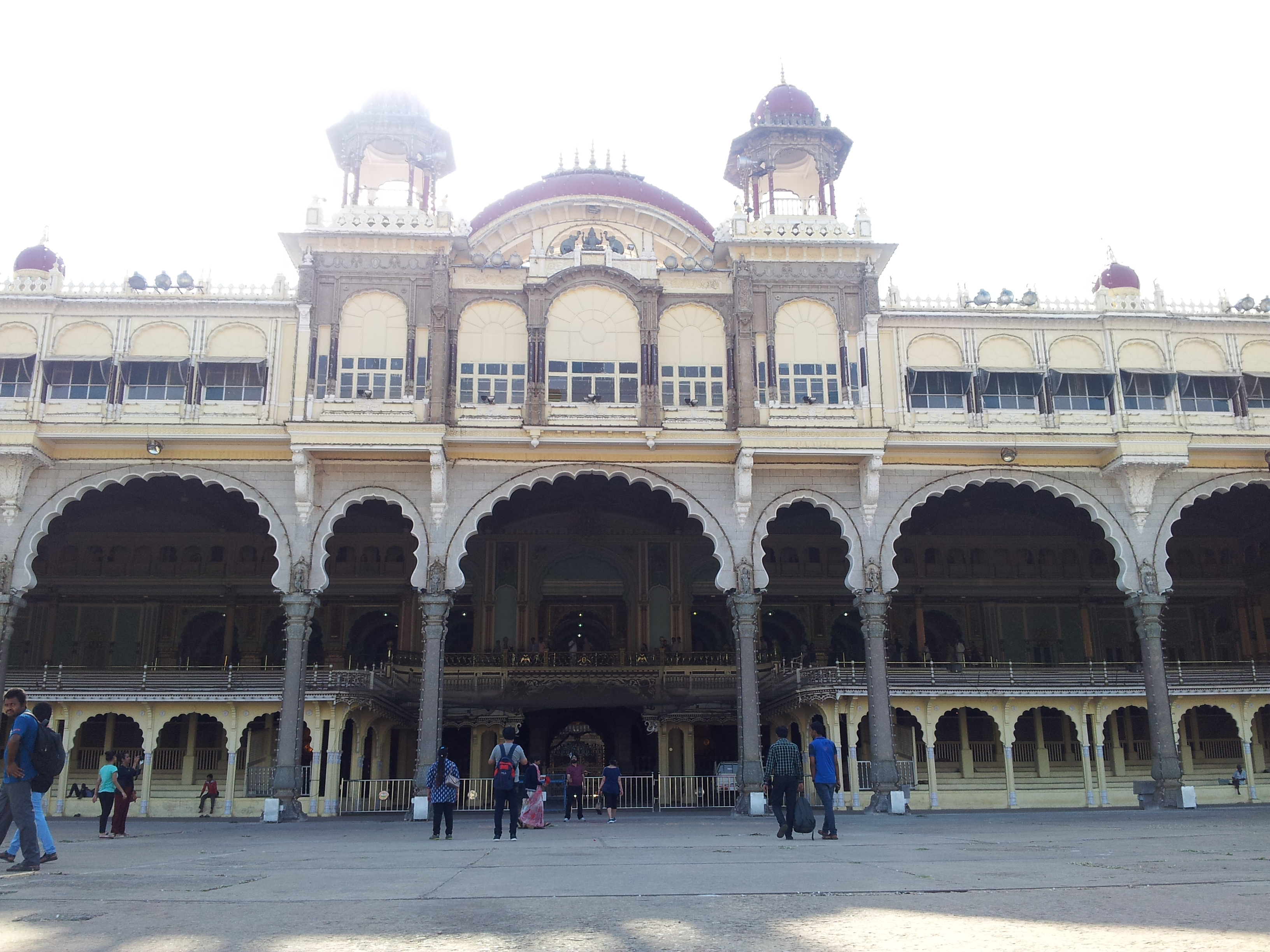Up close outside view of Durbar Hall